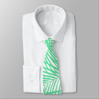 Tropical flat green leaves tie