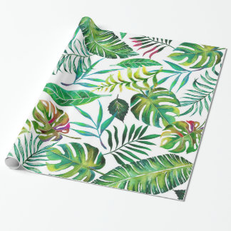 Tropical Flora Wrapping Paper
