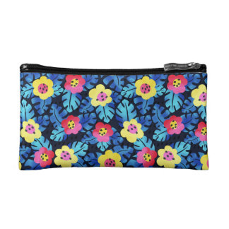 Tropical floral Cosmetic Bag