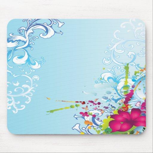 Tropical Floral Fantasy Mousepad