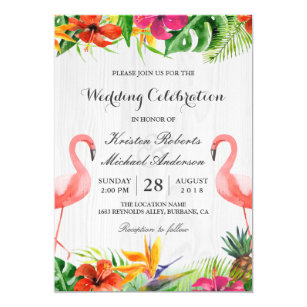 tropical wedding invitations zazzle com au