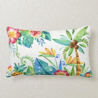 Tropical Floral Lumbar Cushion