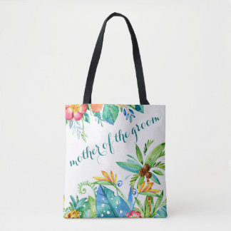 Tropical Floral Mother of the Groom Tote Bag