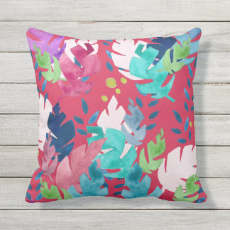 Tropical Floral Pattern #5 Cushion