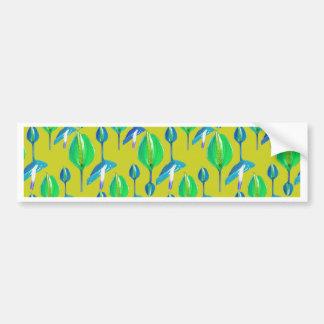 Tropical Floral Pattern Bumper Sticker