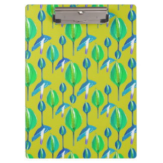 Tropical Floral Pattern Clipboard