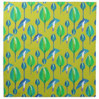 Tropical Floral Pattern Napkin