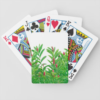 Tropical Floral Print Bicycle Playing Cards
