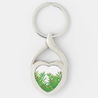 Tropical Floral Print Key Ring