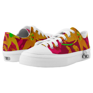 Tropical Floral Print Low Top Shoes Printed Shoes