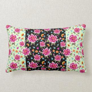 Tropical Floral Print Lumbar Cushion