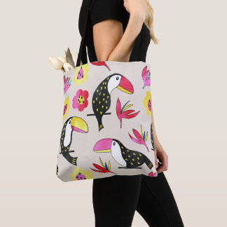 Tropical floral Tote Bag