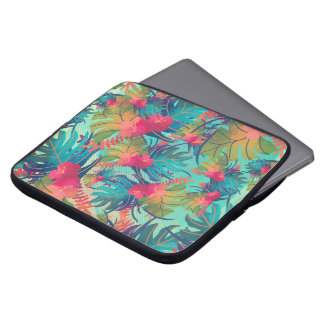 Tropical Floral Watercolor Laptop Sleeve
