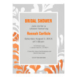 Tropical Florals Orange, White & Grey Customisable Personalised Announcement