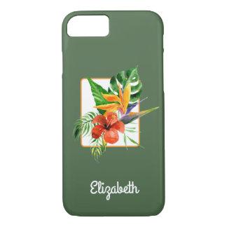 Tropical Florals Watercolor iPhone 7 Case
