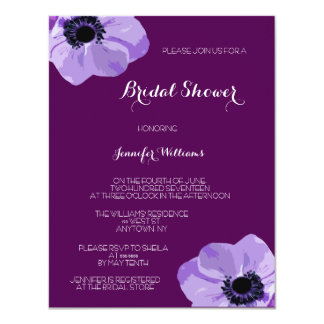 Tropical Flower Bridal Shower Invitations