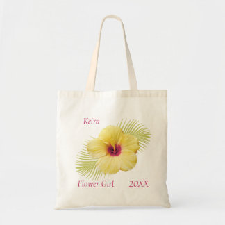 Tropical Flower Girl Personalized Tote
