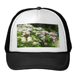 tropical flower trucker hats