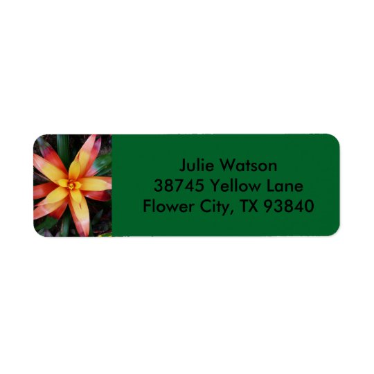 Tropical Flower Label