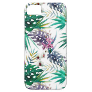 Tropical flower pattern bright iPhone 5 cases