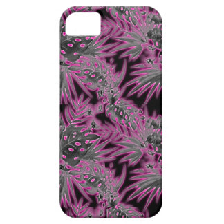 Tropical flower pattern dark pink glow case for the iPhone 5