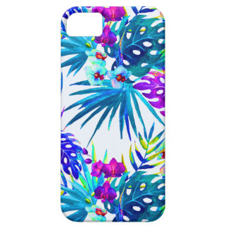 Tropical flower pattern deluxe case for the iPhone 5