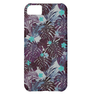 Tropical flower pattern iPhone 5C case