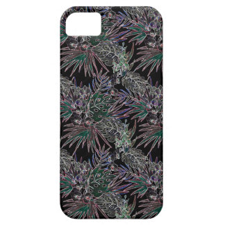 Tropical flower pattern NEON Case For The iPhone 5