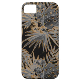 tropical flower pattern orange glow iPhone 5 covers