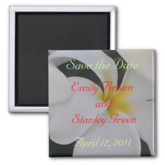 Tropical Flower Save the Date Magnet