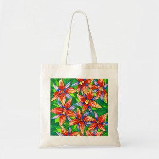 Tropical Flower Watercolour Budget Tote Bag
