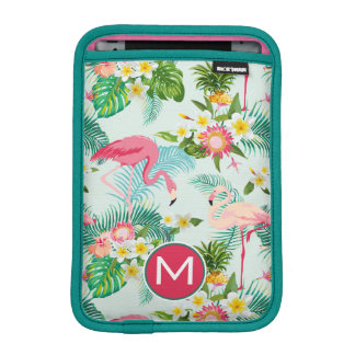 Tropical Flowers And Birds | Add Your Initial iPad Mini Sleeves