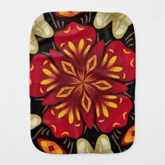 Tropical Flowers And Butterflies Mandala Burp Cloth