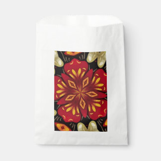Tropical Flowers And Butterflies Mandala Favour Bags