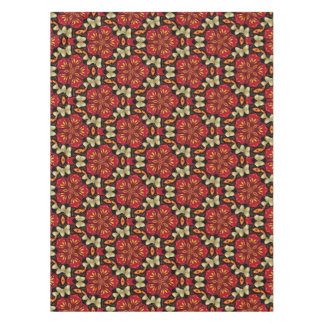 Tropical Flowers And Butterflies Mandala Tablecloth