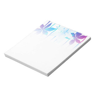 Tropical flowers and stripes notepad