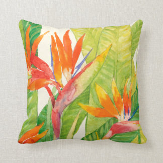 Tropical Flowers | Bird of Paradise Cushion
