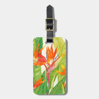 Tropical Flowers | Bird of Paradise Luggage Tag