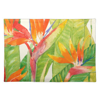 Tropical Flowers | Bird of Paradise Placemat