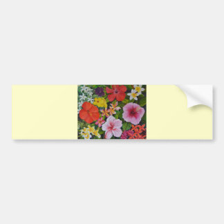 Tropical Flowers Bumper Stickers