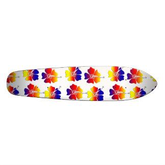 Tropical Flowers Custom Skate Board