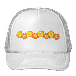 Tropical Flowers Mesh Hat