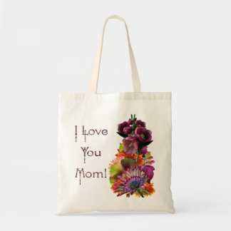 Tropical Flowers Mother's Day Bouquet Budget Tote Bag