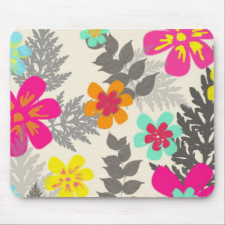 Tropical Flowers Mouspad Mouse Pad