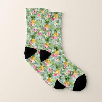 Tropical Flowers & Pineapples Socks
