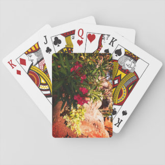 Tropical Flowers Playing Cards
