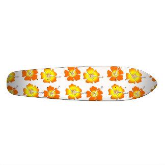 Tropical Flowers Skateboard Deck