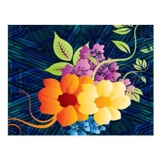 Tropical Flowers & Vines Postcard