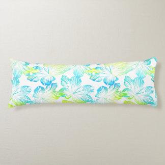 Tropical flowers watercolour body cushion