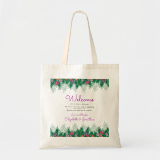 Tropical Flowers   Wedding Welcome Tote Bag